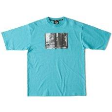 画像2: Live One S/S Tee Turquoise Blue Black White オーバーサイズ Tシャツ (2)