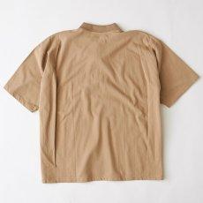 画像3: Bigpo S/S Polo Shirt Beige Navy Purple 半袖 オーバーサイズ ポロ シャツ (3)