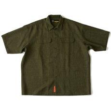 画像2: Workskin S/S Shirt Olive Green 半袖 オーバーサイズ シャツ (2)