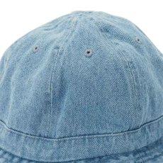 画像3: Hobo Denim Metro Hat Indigo Blue デニム VINTAGE ミリタリー ハット 6パネル ハット ブリム (3)