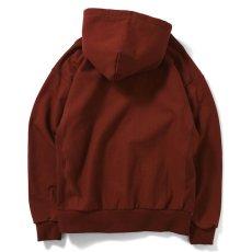 画像2: Rose Logo US Cotton Hooded Sweatshirt ローズ ロゴ プルオーバー スウェット パーカー Burgundy バーガンディー by Lafayette ラファイエット  (2)