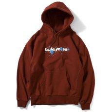 画像1: Rose Logo US Cotton Hooded Sweatshirt ローズ ロゴ プルオーバー スウェット パーカー Burgundy バーガンディー by Lafayette ラファイエット  (1)
