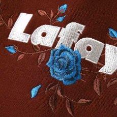 画像6: Rose Logo US Cotton Hooded Sweatshirt ローズ ロゴ プルオーバー スウェット パーカー Burgundy バーガンディー by Lafayette ラファイエット  (6)