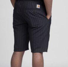 画像1: Johnson Shorts Pinstripe Navy ピンストライプ ハーフパンツ ショーツ (1)