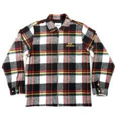 画像2: World Music Overshirt ワールド ミュージック オーバー シャツ ジャケット White Black Red ホワイト ブラック レッド  (2)
