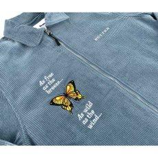 画像5: Butterfly Workshirt バタフライ ワーク シャツ ジャケット Stone Blue ブルー ストーン (5)