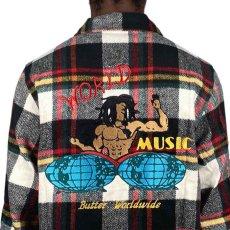 画像7: World Music Overshirt ワールド ミュージック オーバー シャツ ジャケット White Black Red ホワイト ブラック レッド  (7)
