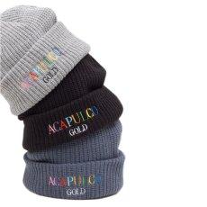 画像8: Multi Cable Beanie マルチ カラー ロゴ ビーニー ライト ウェイト ニット キャップ 帽子 (8)