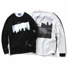 画像2: × dee Photo 2Tone L/S Tee ディー 長袖 フォト Tシャツ White Black ホワイト ブラック by Lafayette ラファイエット  (2)