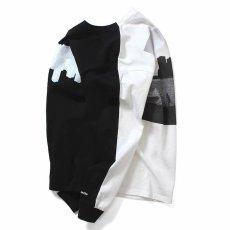 画像8: × dee Photo 2Tone L/S Tee ディー 長袖 フォト Tシャツ White Black ホワイト ブラック by Lafayette ラファイエット  (8)