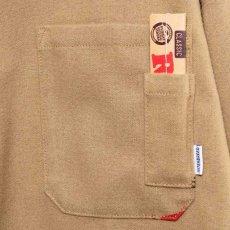 画像5: × Raw Logo Textile Work L/S Shirts Lt Brown ワーク シャツ 長袖 ローリング ペーパー RAWペーパー 総柄 コラボレーション  (5)