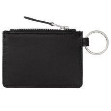 画像2: Leather Wallet With Metal Ring Coin Case Black レザー ウォレット コイン ケース メタル リング (2)