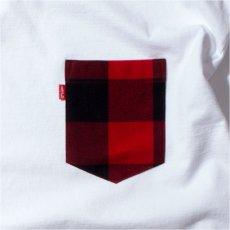 画像4: Lumber Jack Pocket L/S Tee 長袖 ブルックリン ロングスリーブ ランバージャック ポケット フランネル チェック Tシャツ White ホワイト (4)