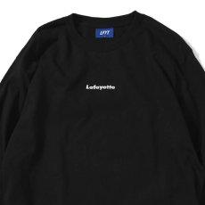 画像2: Small Logo L/S Tee スモール ロゴ 長袖 Tシャツ Black ブラック by Lafayette ラファイエット  (2)