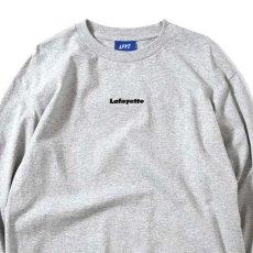 画像1: Small Logo L/S Tee スモール ロゴ 長袖 Tシャツ Heather Gray ヘザー グレー by Lafayette ラファイエット  (1)