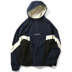 画像2: Sports Anorak Track Jacket スポーツ アノラック トラック プルオーバー ナイロン ジャケット Navy ネイビー by Lafayette ラファイエット  (2)