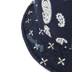 画像7: Washed Denim Reversible Metro Hat Paisley ペイズリー リバーシブル デニム メトロ ハット 帽子 by Lafayette ラファイエット  (7)