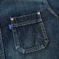 画像9: Washed Denim Shirt デニム シャツ 長袖 Vintage ビンテージ Damage ダメージ Paisley ペイズリー Indigo Blue ブルー by Lafayette ラファイエット  (9)