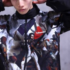 画像12: French Revolution Polyester Jacket ポリエステル トラック ジャケット 総柄 ロゴ 刺繍 by Lafayette ラファイエット  (12)