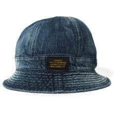 画像2: Washed Denim Reversible Metro Hat Paisley ペイズリー リバーシブル デニム メトロ ハット 帽子 by Lafayette ラファイエット  (2)