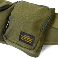 画像13: Military Waist Bag ウエスト バッグ Black Military Green ブラック ミリタリー グリーン by Lafayette ラファイエット  (13)