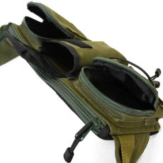画像17: Military Waist Bag ウエスト バッグ Black Military Green ブラック ミリタリー グリーン by Lafayette ラファイエット  (17)