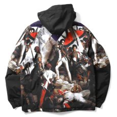 画像4: French Revolution Polyester Jacket ポリエステル トラック ジャケット 総柄 ロゴ 刺繍 by Lafayette ラファイエット  (4)