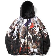画像3: French Revolution Polyester Jacket ポリエステル トラック ジャケット 総柄 ロゴ 刺繍 by Lafayette ラファイエット  (3)