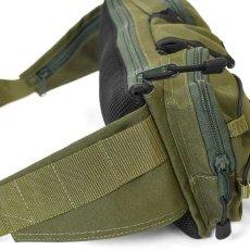 画像9: Military Waist Bag ウエスト バッグ Black Military Green ブラック ミリタリー グリーン by Lafayette ラファイエット  (9)