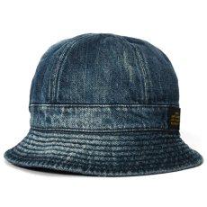 画像3: Washed Denim Reversible Metro Hat Paisley ペイズリー リバーシブル デニム メトロ ハット 帽子 by Lafayette ラファイエット  (3)