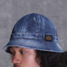 画像10: Washed Denim Reversible Metro Hat Paisley ペイズリー リバーシブル デニム メトロ ハット 帽子 by Lafayette ラファイエット  (10)