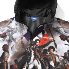 画像11: French Revolution Polyester Jacket ポリエステル トラック ジャケット 総柄 ロゴ 刺繍 by Lafayette ラファイエット  (11)