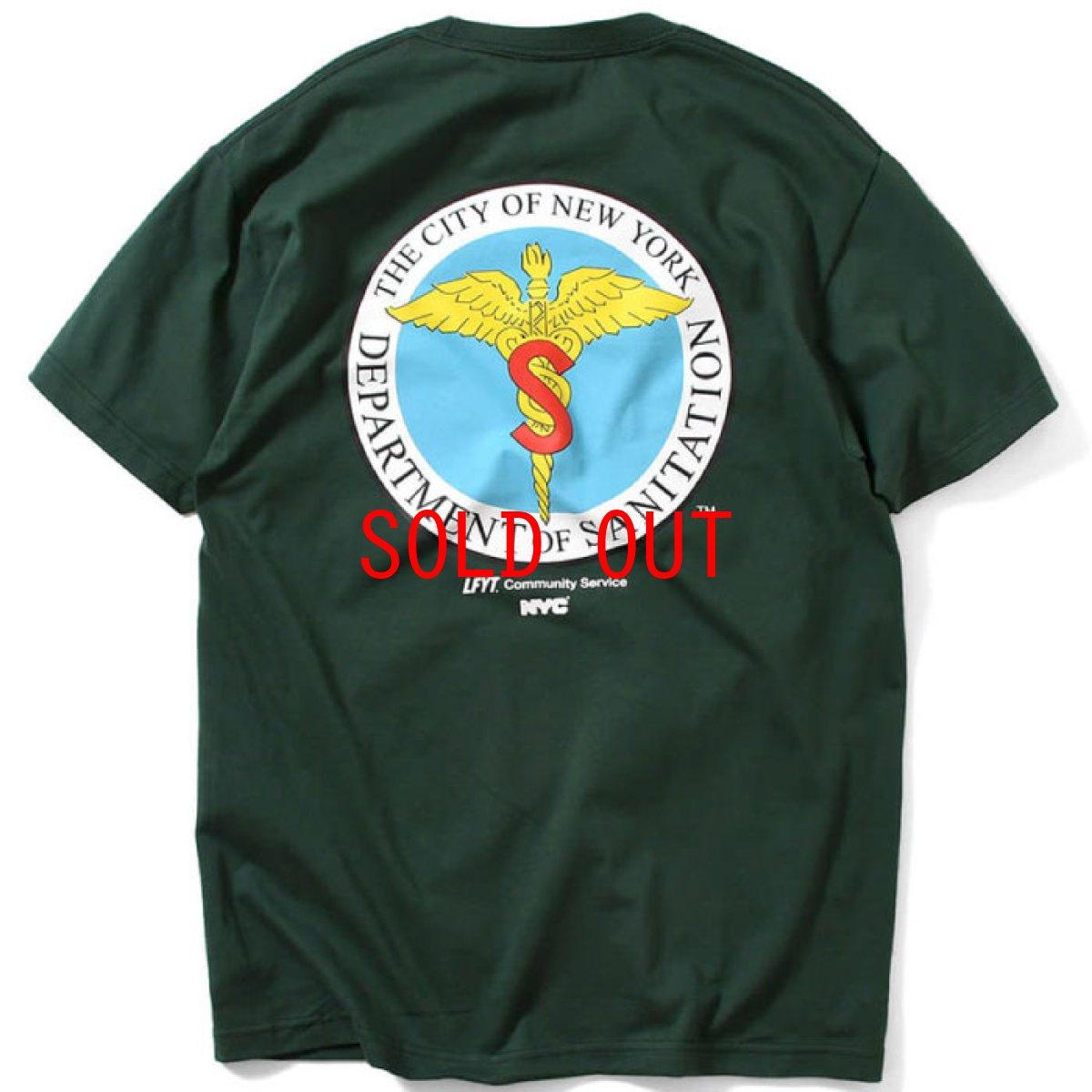 画像1: X DSNY Community Services S/S Tee 半袖 Tシャツ デイーエスエヌワイ Dark Green ダーク グリーン by Lafayette ラファイエット  (1)