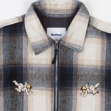 画像5: Angels Heavyweight Plaid Shirts Jacket エンジェル プレイド シャツ ジャケット ジップ Navy Beige ネイビー ベージュ (5)