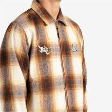 画像8: Angels Heavyweight Plaid Shirts Jacket エンジェル プレイド シャツ ジャケット ジップ Brown Taupe ブラウン (8)