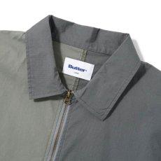 画像4: Patchwork Pullover Shirts Jacket パッチワーク プルオーバー シャツ ジャケット ハーフ ジップ Army Green グリーン (4)