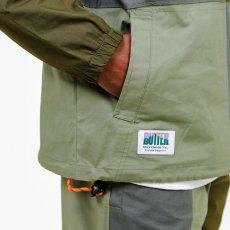 画像7: Patchwork Pullover Shirts Jacket パッチワーク プルオーバー シャツ ジャケット ハーフ ジップ Army Green グリーン (7)
