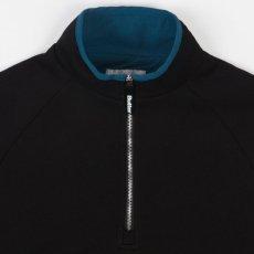 画像2: Crest 1/4 Zip Pullover Sweat ロゴ スウェット クレスト プルオーバー ハーフ ジップ Black ブラック (2)