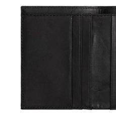 画像6: Leather Fold Wallet Black レザー フォールド ウォレット 札入れ カード ポケット 財布 ブラック 黒 牛革 (6)