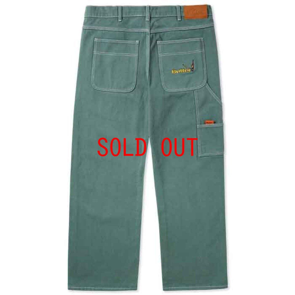 画像1: Overdye Denim Work Pants オーバーダイ カラー デニム ワーク パンツ Alpine Green グリーン (1)