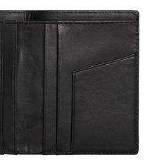 画像5: Leather Fold Wallet Black レザー フォールド ウォレット 札入れ カード ポケット 財布 ブラック 黒 牛革 (5)