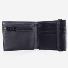 画像4: Coated Billfold Wallet Camo Laurel Black フォールド ウォレット 二つ折り コイン バンド スクリプトロゴ 財布 カモ 迷彩 ブラック 黒 (4)