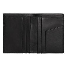 画像4: Leather Fold Wallet Black レザー フォールド ウォレット 札入れ カード ポケット 財布 ブラック 黒 牛革 (4)