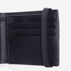 画像3: Coated Billfold Wallet Camo Laurel Black フォールド ウォレット 二つ折り コイン バンド スクリプトロゴ 財布 カモ 迷彩 ブラック 黒 (3)