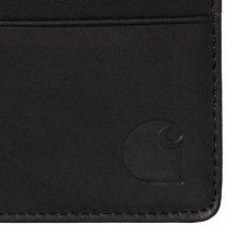 画像7: Leather Fold Wallet Black レザー フォールド ウォレット 札入れ カード ポケット 財布 ブラック 黒 牛革 (7)