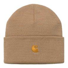 画像1: Chase Beanie C Logo Knit Cap ショート ビーニー ロゴ 刺繍 ニット キャップ ブラウン ワイン レッド グリーン (1)