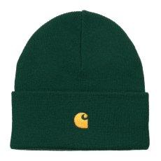 画像3: Chase Beanie C Logo Knit Cap ショート ビーニー ロゴ 刺繍 ニット キャップ ブラウン ワイン レッド グリーン (3)