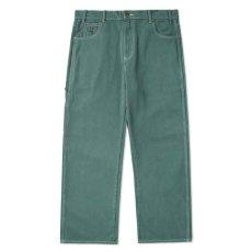 画像2: Overdye Denim Work Pants オーバーダイ カラー デニム ワーク パンツ Alpine Green グリーン (2)