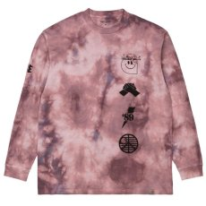 画像1: TAB L/S Tie Dye Tee タイダイ ロング スリーブ ルーズ フィット 長袖 Tシャツ Chromo Malaga Pink / Black (1)