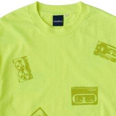 画像5: Oldies S/S Tee 半袖 総柄 オールディーズ Cassette Tape カセット テープ Tシャツ Neon Yellow (5)